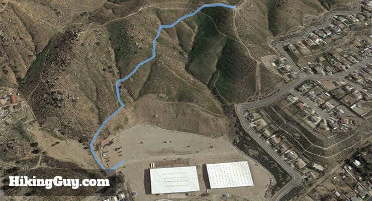 hike pumpkin rock trail 3d map