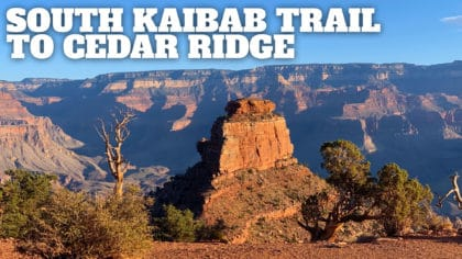 Hike South Kaibab Trail to Cedar Ridge