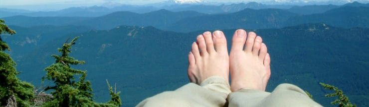 hiking feet with plantar fasciitis