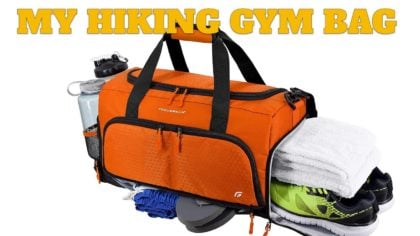 My Hiking Gym Bag & Stinky Hiker Seat Cover
