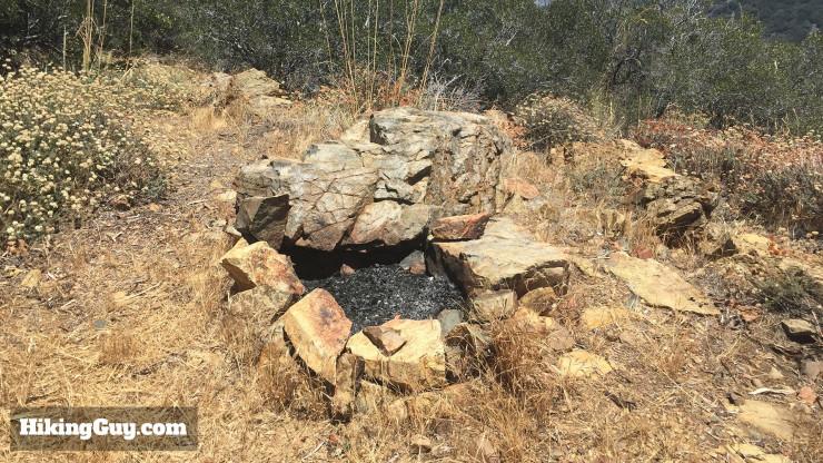 fire pit on Modjeska Peak