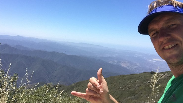 cris hazzard on Saddleback Mountain