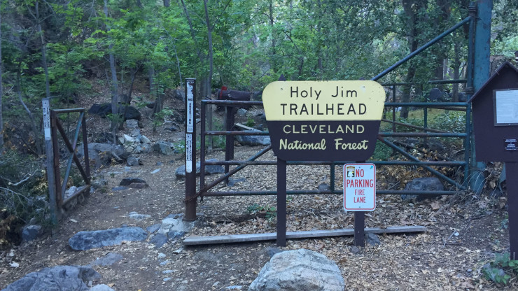 Holy Jim Trail trailhead