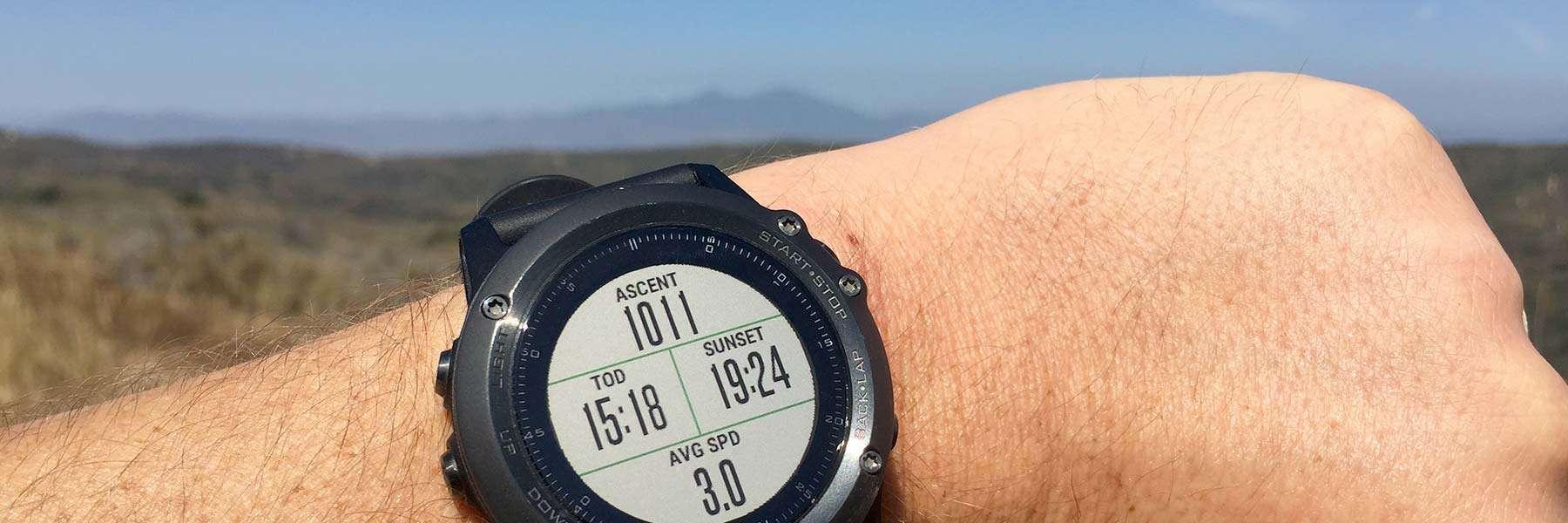 hiking with garmin fenix 3 gps