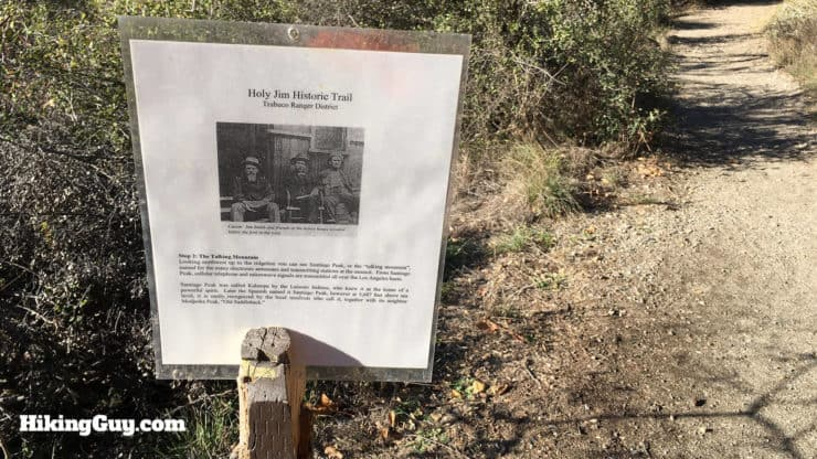 historical marker on holy jim trail