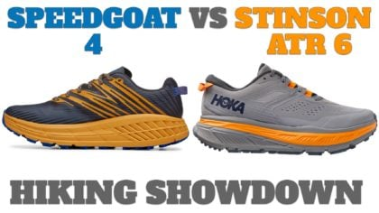 HOKA Speedgoat 4 -vs- Stinson ATR 6 – Which One is Better for Hiking?