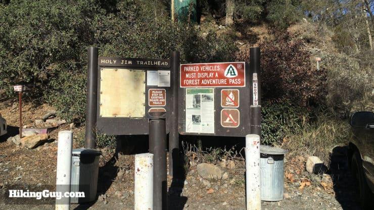 Holy Jim Trail sign