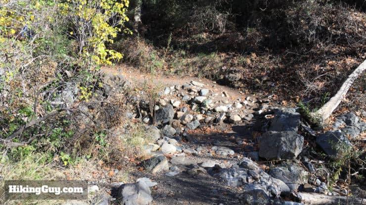 holy jim trail stream crossing