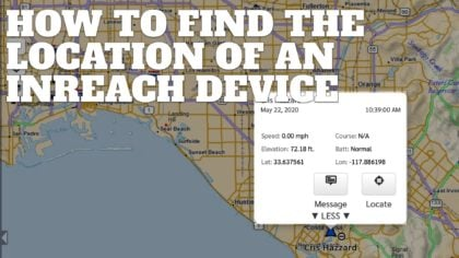 How to Find the Location of an InReach Device