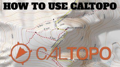 How to Use CalTopo