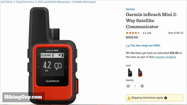In-Depth Garmin inReach Mini Review (2019) - HikingGuy com