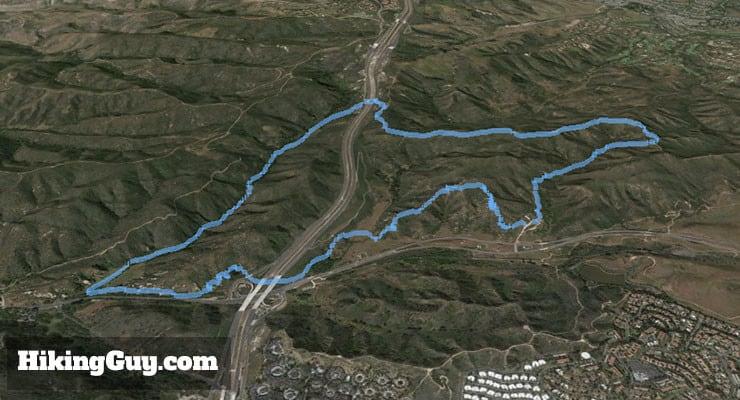 Laguna Coast Wilderness Park Hike 3d map