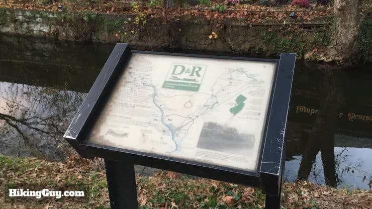 Delaware and Raritan Canal State Park Trail sign