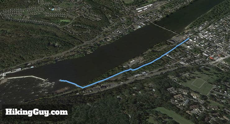 lambertville wing dam hike 3d map