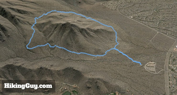 McDowell Sonoran Preserve Hike 3d map