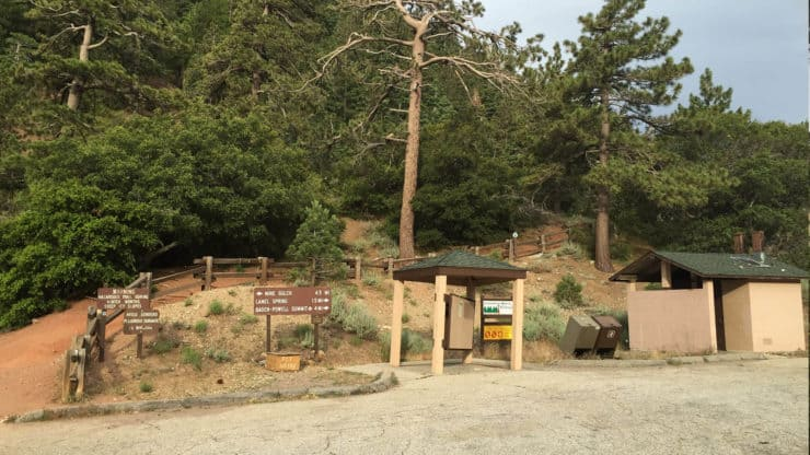 Mount Baden-Powell Hike bathrooms