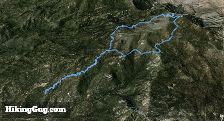 Mount San Jacinto Hike 3d map