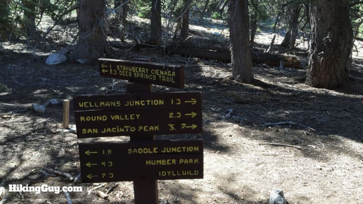 Mount San Jacinto Hike sign