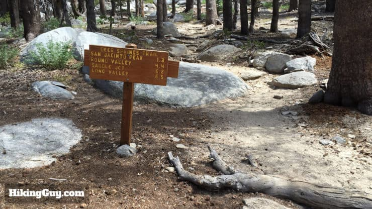 Mount San Jacinto Hike trail sign