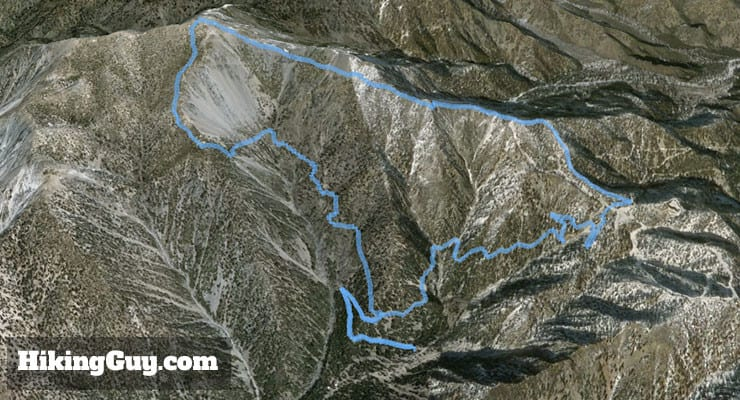 mt baldy hike 3d map