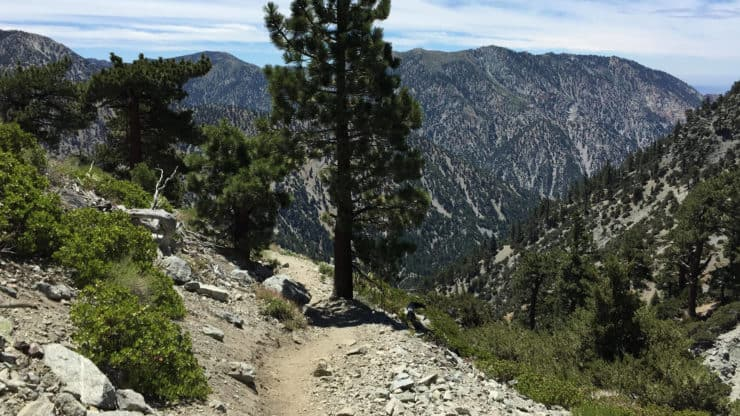 mt baldy hike descends