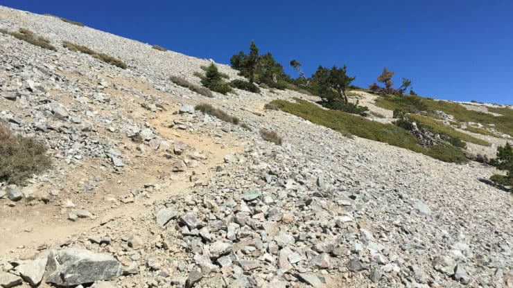 mt baldy hike trail splits