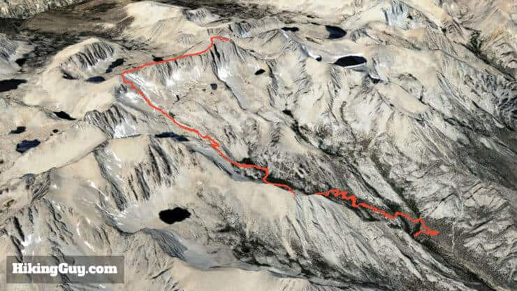 mt whitney hike 3d map