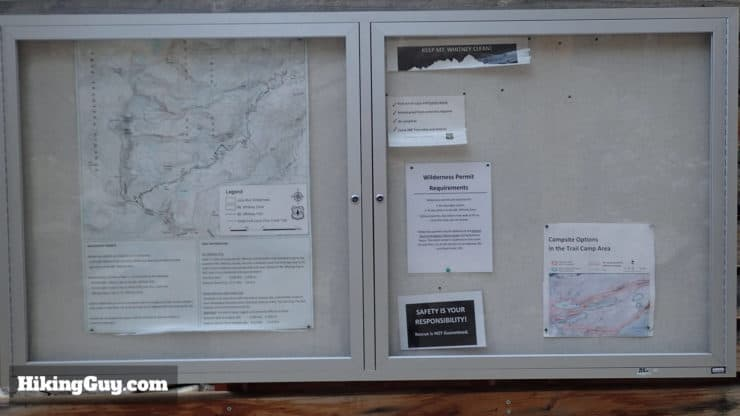 mt whitney hike notice board
