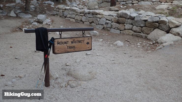 mt whitney hike sign