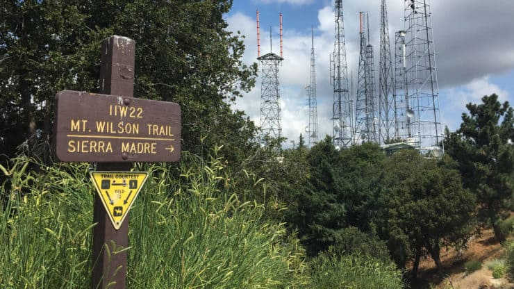 Mt Wilson trail sign