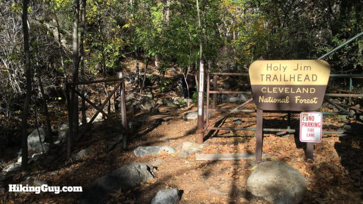 official Holy Jim Trail trailhead