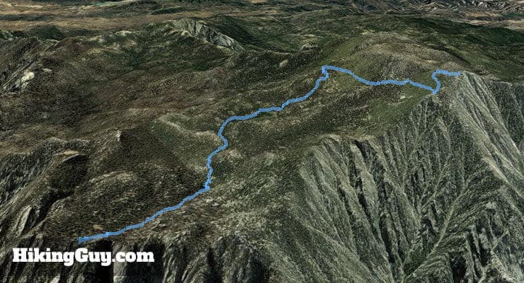 Palm Springs Aerial Tramway Hike 3d map