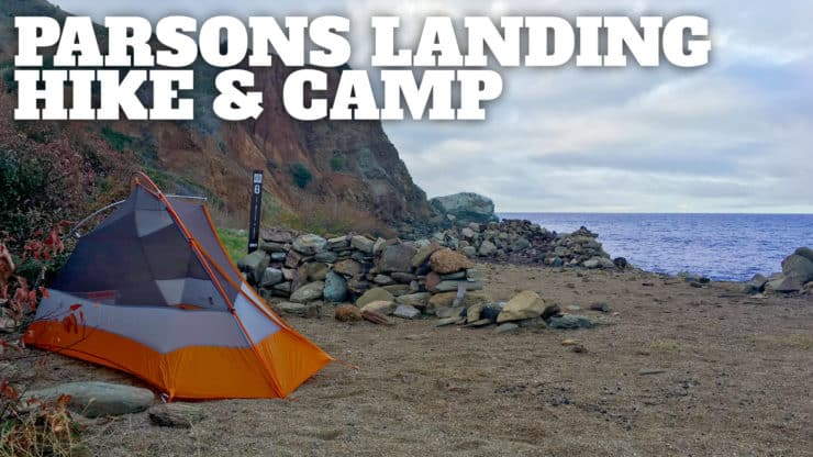 Hiking on Catalina Island to Parsons Landing Campsite