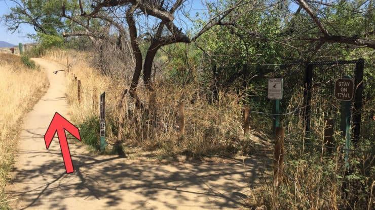 Peters Canyon Hike shortcut