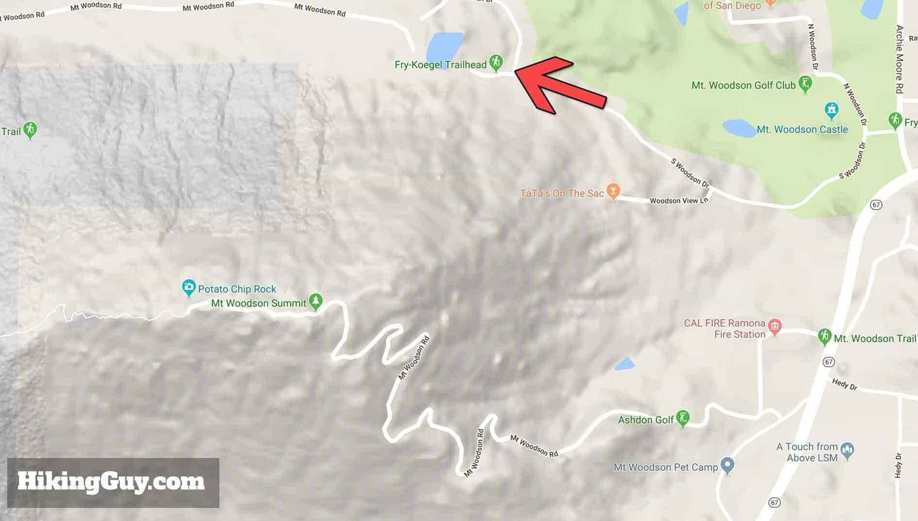 Best Way To Hike Potato Chip Rock (San Diego) - HikingGuy.com