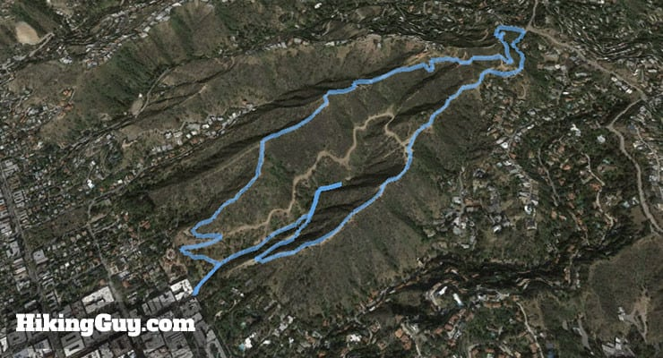 Runyon Canyon Hike 3d map