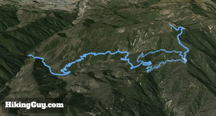Saddleback Mountain Hike 3d map