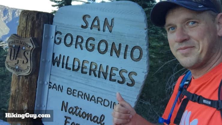 San Gorgonio Wilderness sign