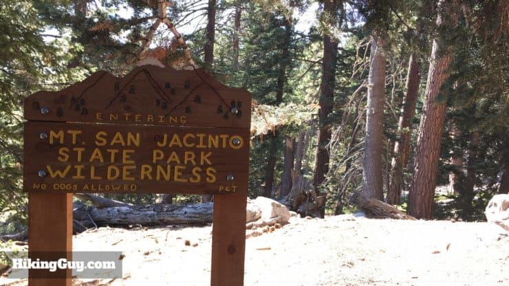 San Jacinto State Park sign