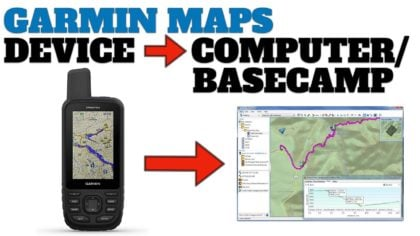 How To Copy Garmin TopoActive Maps From GPS Device to Basecamp