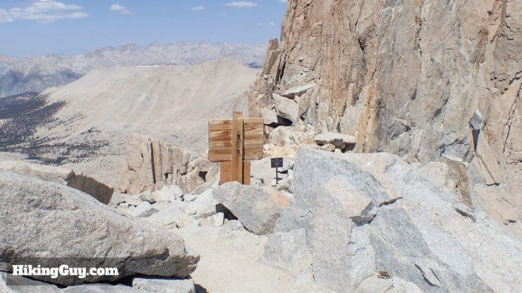 trail crest on mt whitney trail