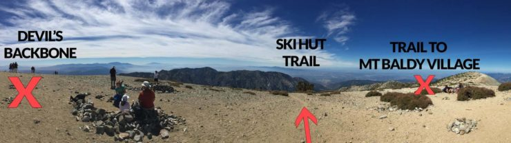 trails from mt baldy summit