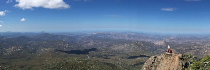 view from cuyamaca peak hike