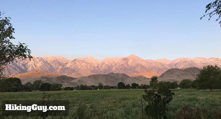 view from the breakfast room at the Best Western in Lone Pine