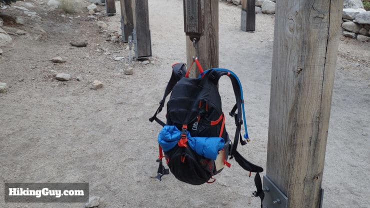 weighing backpack at start of mt whitney hike