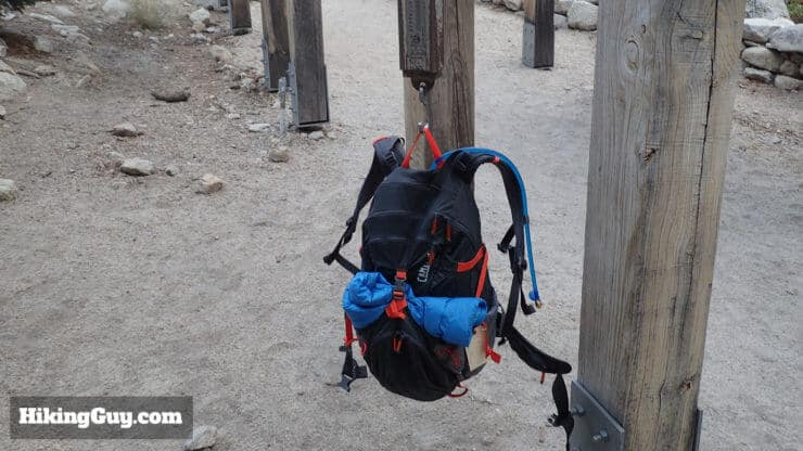 weighing pack at mt whitney hike