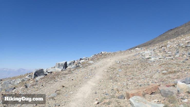 white mountain peak hike