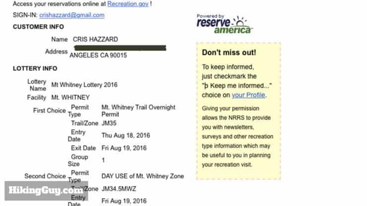 winning the mt whitney lottery