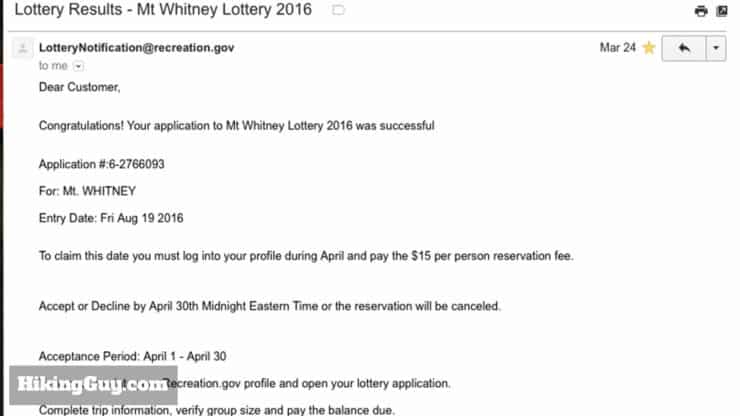 winning the mt whitney lottery
